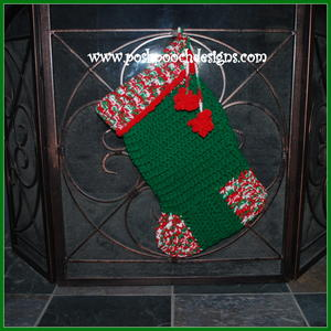 Big Crochet Christmas Stocking