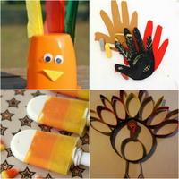 40+ Thanksgiving Crafts for Toddlers & Preschool Thanksgiving Crafts