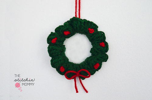 Christmas Wreath Crochet Ornament