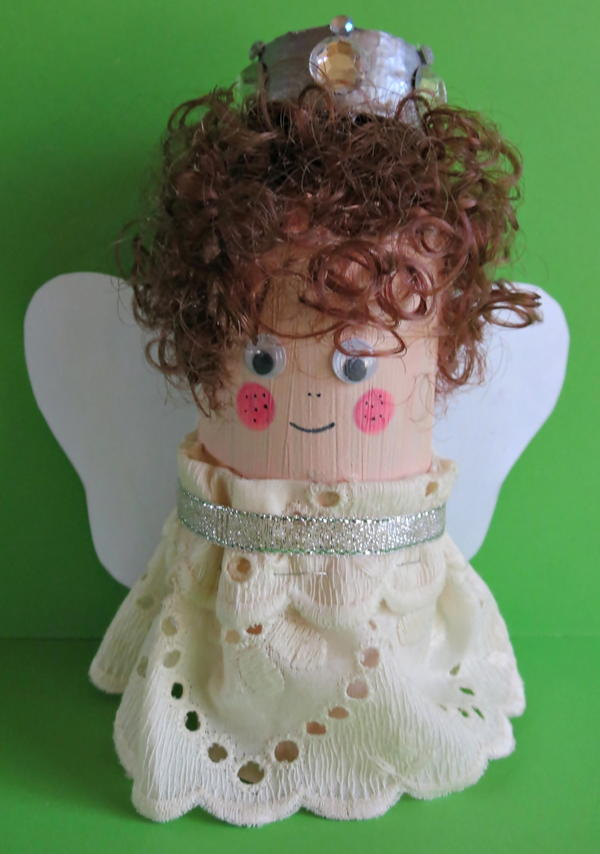 Simple Toilet Paper Roll Christmas Angel Craft