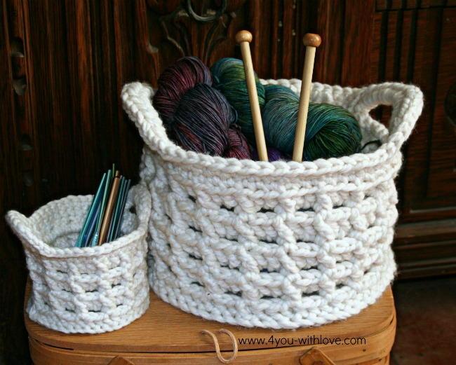 Box Stitch Crochet Basket Allfreecrochet Com