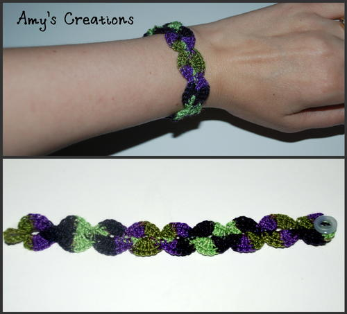 Shell Crochet Bracelet Pattern