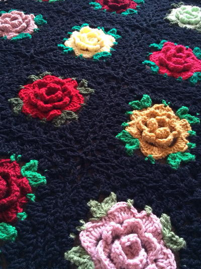 Crochet Patterns In English : English Rose Granny Square Crochet Pattern ...