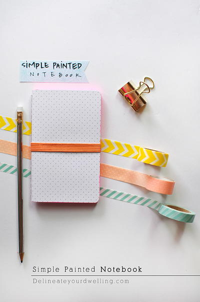 Simple Painted Notebook Decoration