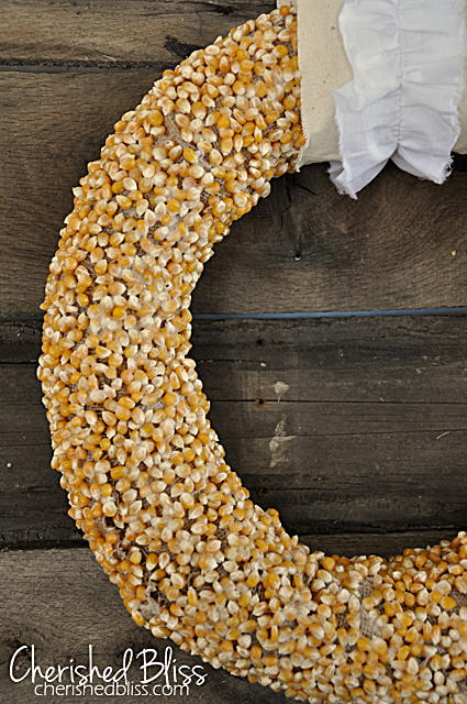 Popcorn Kernel DIY Fall Wreath