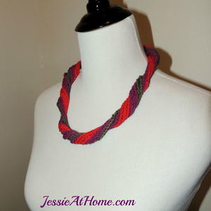 Beautiful Twisted Crochet Necklace