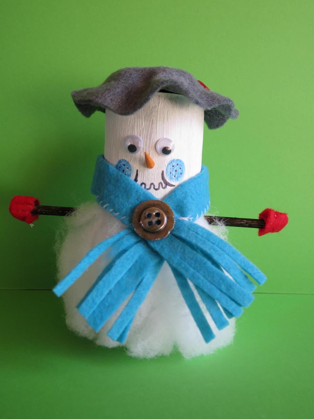 Christmas Snowman Toilet Paper Roll Craft Favecrafts Com