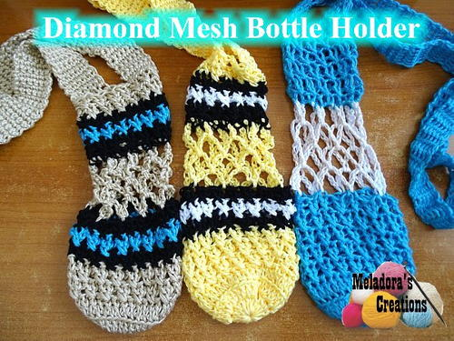 Diamond Mesh Bottle Holder