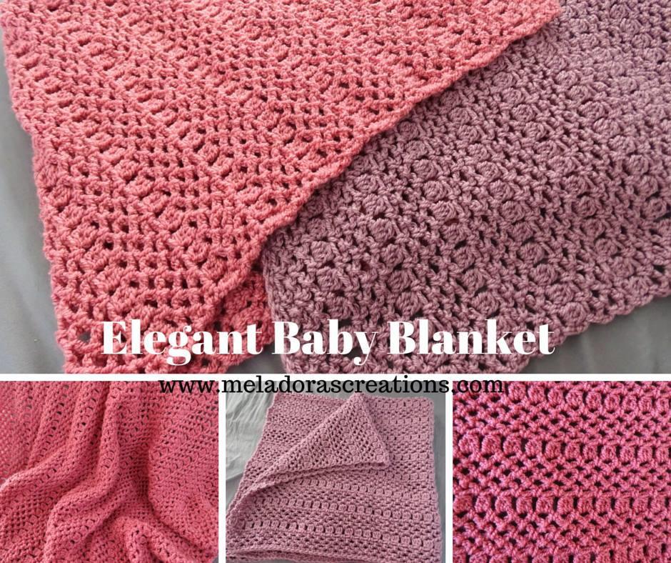Crochet Design For Baby Frocks : Elegant Baby Blanket AllFreeCrochet.com