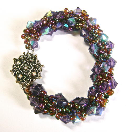 Grape Woven Spiral Bracelet
