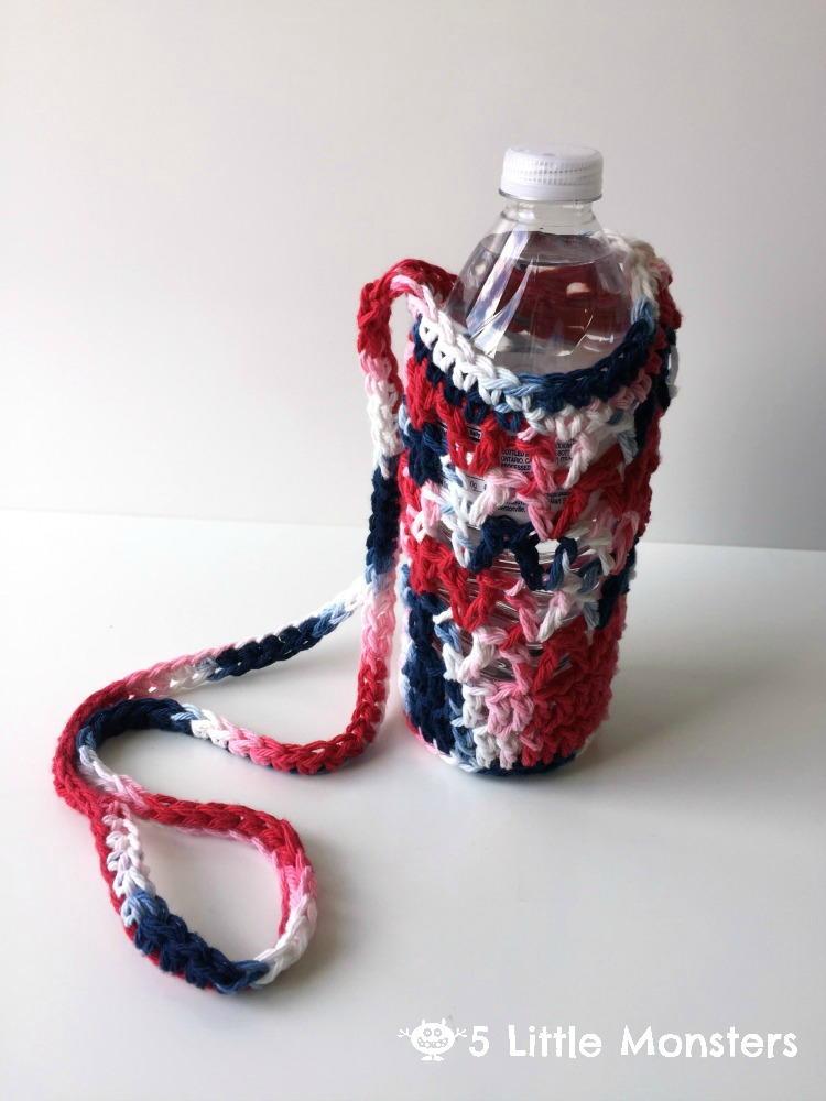 Crocheted Water Bottle Holder Allfreecrochet Com
