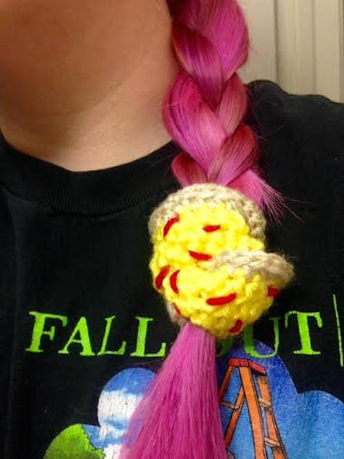 Fun Crochet Hair Scrunchies