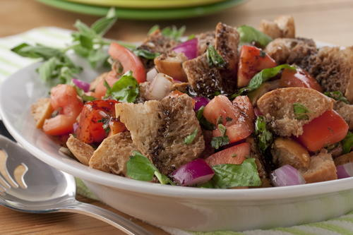 Italian Bread Salad Mrfood Com