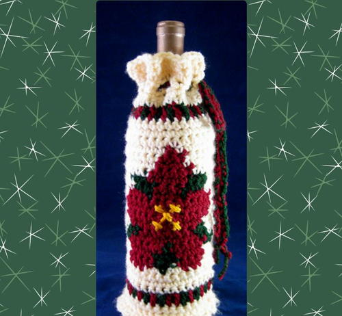 Poinsettia Bottle Cozy