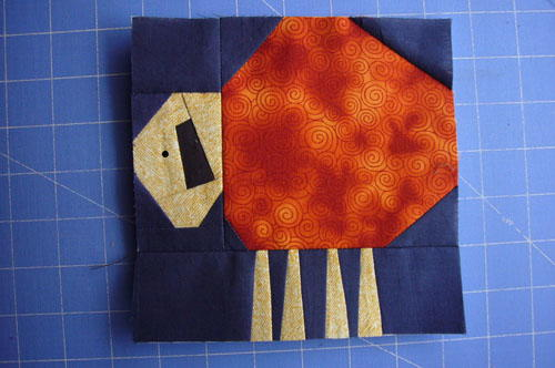 Sheepy Paper Pieced Quilt Blocks