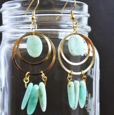Amazonite DIY Dreamcatcher Earrings