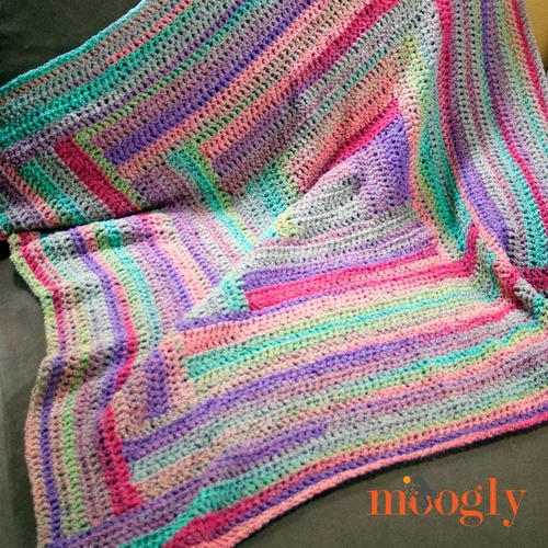 Easy Log Cabin Afghan Pattern