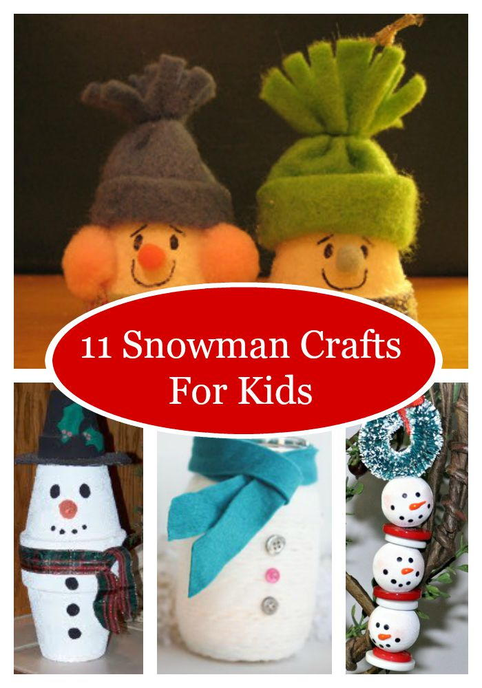 11 Snowman Crafts For Kids AllFreeChristmasCrafts