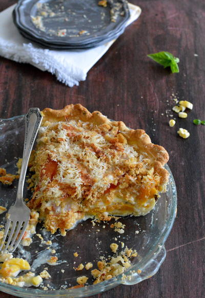 Heirloom Tomato and Corn Pie