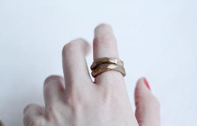 Faux Hammered Metal DIY Rings