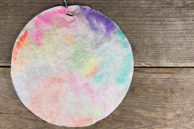 Colorful Coffee Filter Window Hangings