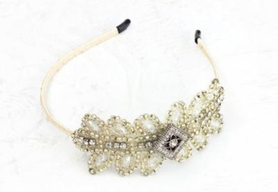 Vintage Bridal Headband from Prima Bead