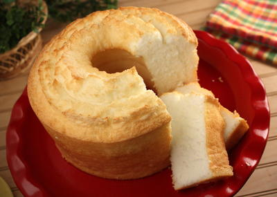Lemon-Glazed Angel Food Cake