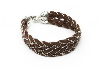 Suede and Chain Bracelet