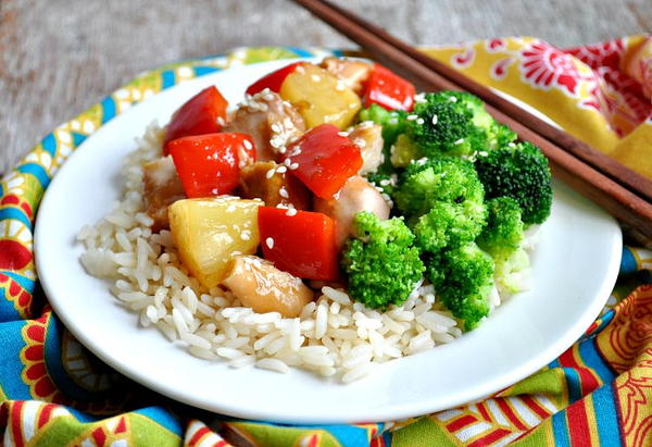 Homemade Slow Cooker Sweet and Sour Chicken