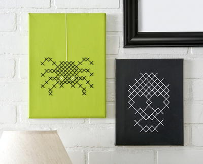 DIY Halloween Cross Stitch Canvas