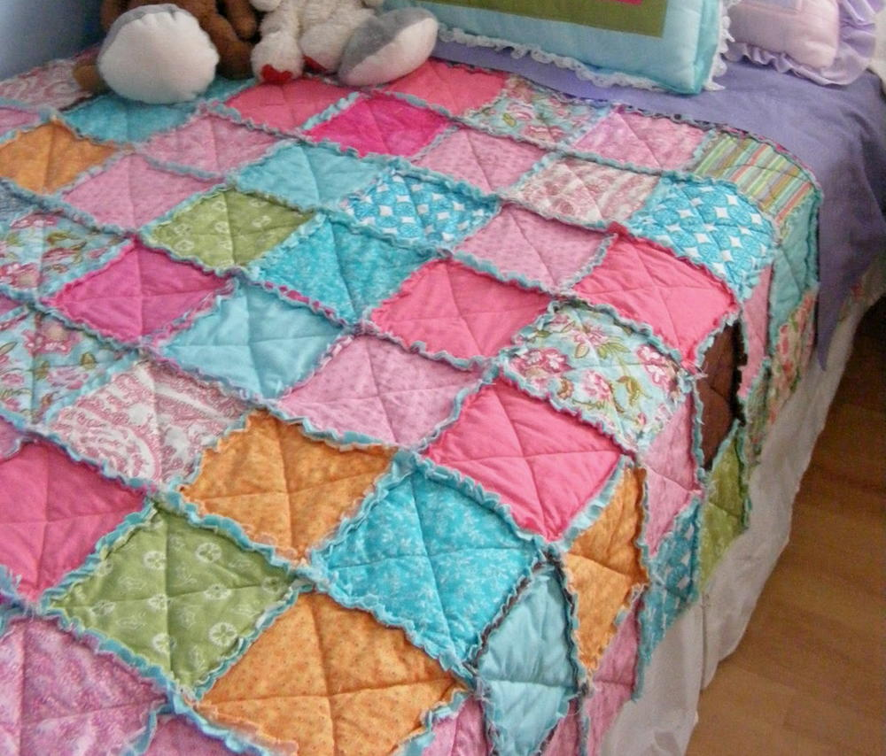Easiest thrifty rag quilt for How to make a quilt template