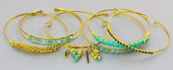 Dainty Gold Stacked Bracelets