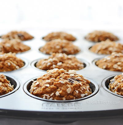 Hearty Pumpkin Chocolate Chip Muffins