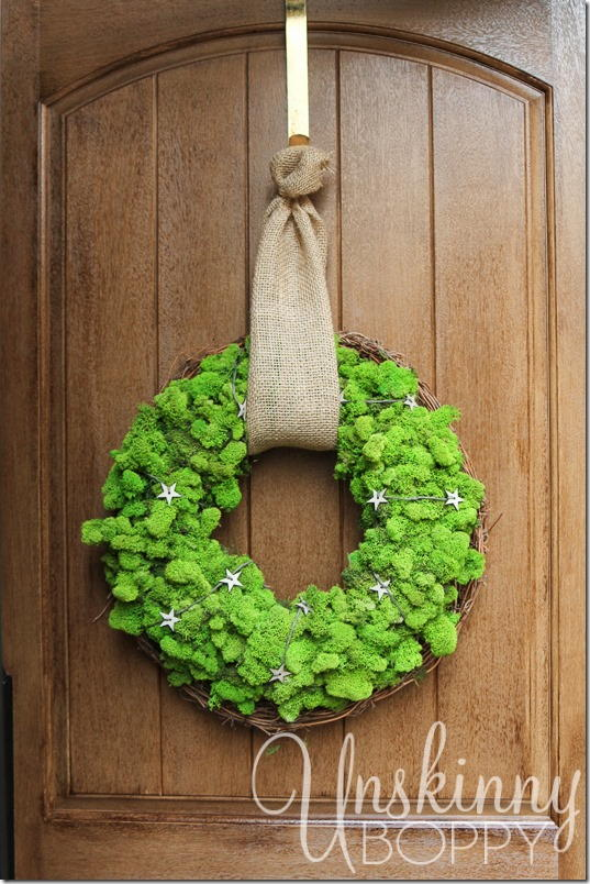 Reindeer Moss Christmas Wreath