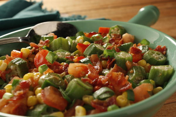 Okra and Corn Skillet