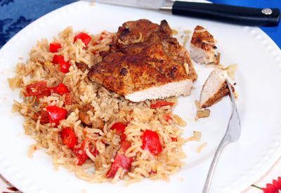 Baked Pork Chops with Rice