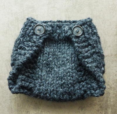Knitted Newborn Diaper Cover Tutorial