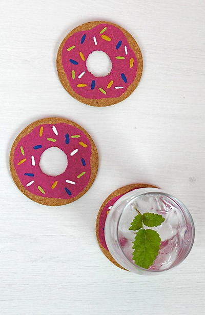 Delectable Donut Coasters