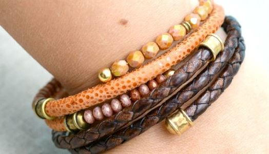 10-Minute Layered Leather DIY Bracelets