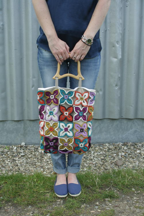 Pretty Knit Butterfly Bag