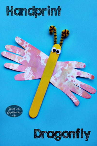 Easy Handprint Dragonfly Craft