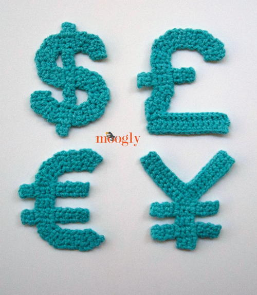 The Moogly Crochet Currency Set
