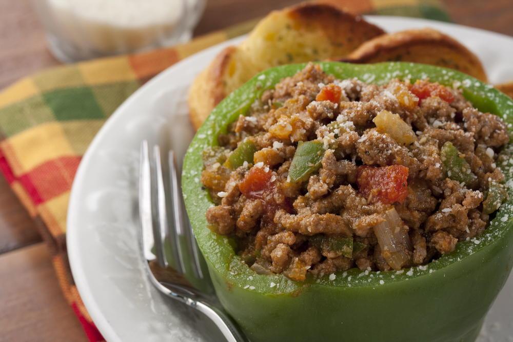 meaty stuffed peppers