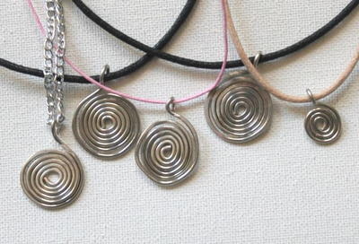 Energy Spiral Wire Wrap Pendant