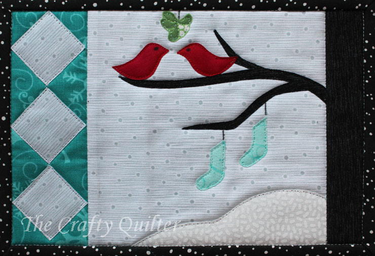 Snow Birds Mug Rug Pattern Favequilts Com