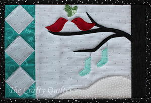 Snow Birds Mug Rug Pattern