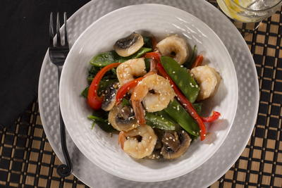 Sizzling Shrimp Stir Fry