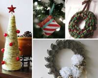"""7 Easy DIY Christmas Crafts: Make Your Own Ornaments, Wreaths and More!"" eBook"