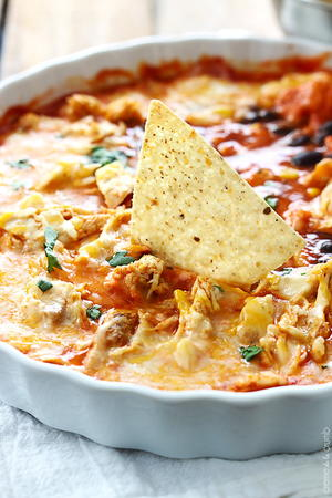 5-Minute Chicken Enchilada Dip