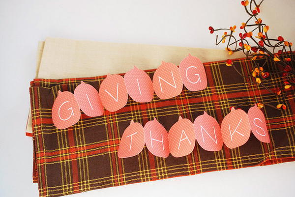 Giving Thanks Printable Pumpkins